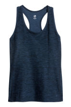 H&M+ Sports vest top - Dark blue - Ladies | H&M 1