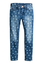 Skinny Fit Jeans - Denim blue/Star - Kids | H&M CN 2