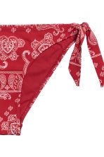Tie tanga bikini bottoms - Red/Paisley - Ladies | H&M CN 3