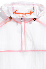 Lightweight running jacket - White/Orange - Men | H&M 4