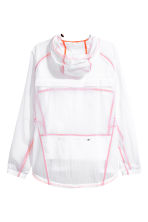 Lightweight running jacket - White/Orange - Men | H&M 3