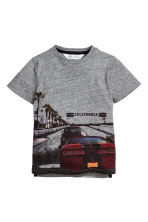 T-shirt con stampa - Grigio scuro mélange -  | H&M IT 2