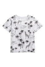 Printed T-shirt - Light grey/Palms - Kids | H&M 2