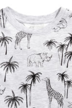Printed T-shirt - Light grey/Palms -  | H&M 3