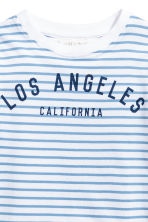 Printed T-shirt - White/Los Angeles -  | H&M 3