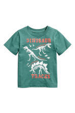 Printed T-shirt - Green/Dinosaur - Kids | H&M CN 2