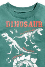 Printed T-shirt - Green/Dinosaur - Kids | H&M CN 3