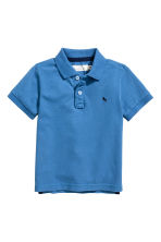 Piqué polo shirt - Blue -  | H&M 2