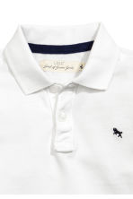 Piqué polo shirt - White -  | H&M 3