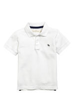 Piqué polo shirt - White -  | H&M 2