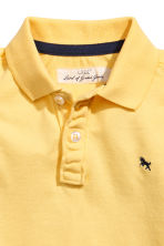 Piqué polo shirt - Yellow -  | H&M 3