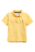 Piqué polo shirt - Yellow -  | H&M 2
