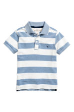 網眼布Polo衫 - Blue/White/Striped -  | H&M 2