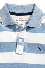 網眼布Polo衫 - Blue/White/Striped -  | H&M 3