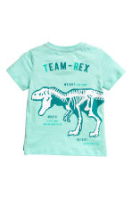 圖案T恤 - Mint/Dinosaur - Kids | H&M 3