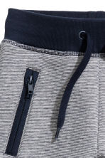 Joggers - Dark blue/Striped -  | H&M 3