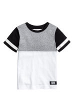 撞色T恤 - White/Grey/Black - Kids | H&M 2