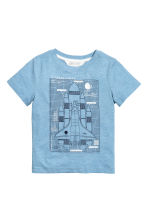 Printed T-shirt - Blue/Rocket -  | H&M 2