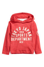 Jersey hooded top - Red/Tokyo -  | H&M CA 2