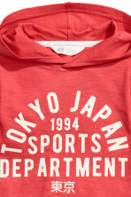 Jersey hooded top - Red/Tokyo -  | H&M CA 4