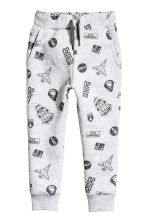 Sweatshirt and trousers - Light grey/Space - Kids | H&M 3
