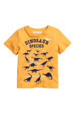 Printed T-shirt - Yellow - Kids | H&M 2