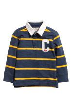 Rugby shirt - Dark blue/Yellow striped - Kids | H&M 2