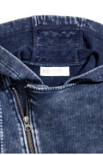Ritshoodie - Donkerblauw washed out -  | H&M BE 4