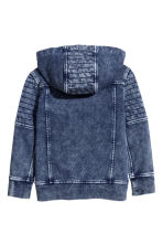 Hooded sweatshirt cardigan - Dark blue washed out -  | H&M 3