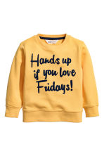 Sweatshirt with an appliqué - Yellow - Kids | H&M CN 2