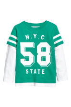 Jersey Top - Green/NYC -  | H&M CA 2