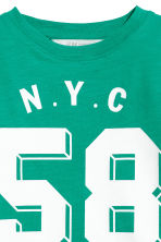 Jersey Top - Green/NYC -  | H&M CA 3