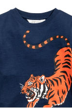 平紋上衣 - Dark blue/Tiger - Kids | H&M 3