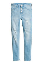 Skinny Fit High Worn Jeans - Light denim blue - Kids | H&M 2