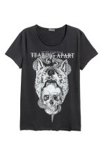 T-shirt with a print - Black/Skull - Men | H&M 2