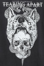 T-shirt with a print - Black/Skull - Men | H&M 3
