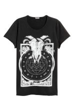 T-shirt with a print - Black - Men | H&M 2