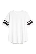 Short-sleeved sports top - White - Men | H&M CN 2