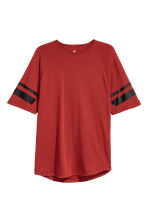 Short-sleeved sports top - Rust red - Men | H&M CA 2