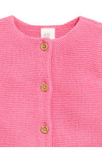 Garter-stitch cotton cardigan - Pink -  | H&M CA 2