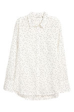 棉質襯衫 - White/Patterned - Ladies | H&M 2