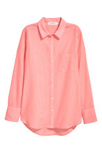 Cotton shirt - Neon coral - Ladies | H&M 2