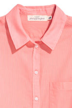 Cotton shirt - Neon coral - Ladies | H&M 3