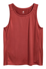 Sports vest top - Rust red - Men | H&M CN 2