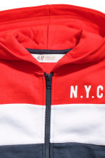 Block-coloured hooded jacket - Red/White/Dark blue -  | H&M 3