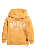 Printed hooded top - Yellow -  | H&M CN 2