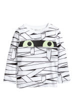 Tricot T-shirt - Wit/mummie - KINDEREN | H&M BE 2