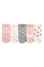 5-pack socks - Light pink/Heart -  | H&M CN 2