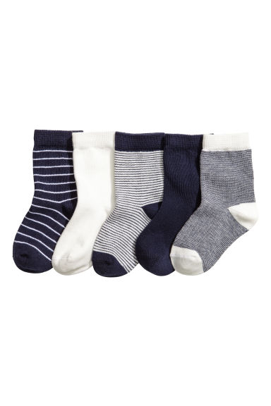 5-pack socks - Dark blue -  | H&M 1