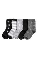 5-pack socks - Black/Stars - Kids | H&M 1